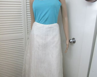 Vintage sheer crinkled white midi skirt with full lining and endless possibilities. Made for Amy Byer California. See measurements below.