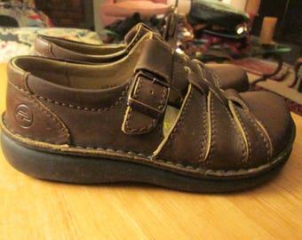 Birkenstock Footprints brown leather hurache style shoe. Made in Germany. EU size 36 see measurements -fits like 7-7 12. Birkenstock shoe
