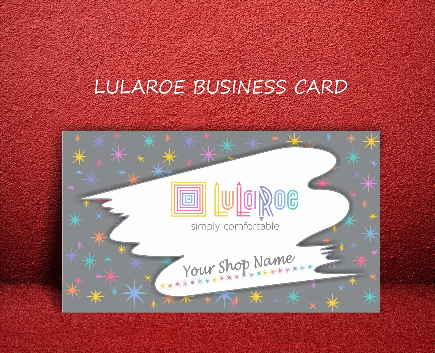 Lularoe business cards personalized digital printable by for Etsy lularoe business cards