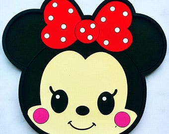 Minnie Mouse Coaster, kids coaster, mouse cup coaster, silicon coaster, baby gift, toddler gift