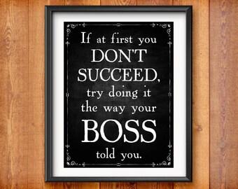 Gift for Boss Gift - Birthday Gift for Boss Print - Boss's Day - Boss Appreciation - Boss Christmas Gift Office Decor 0086