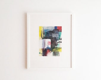 Framed abstract painting-Modern abstract art-Abstract painting-Colorful abstract art-Combined technique art-Large abstract art-Big painting