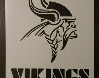 Minnesota Vikings Football Custom Stencil FAST FREE SHIPPING