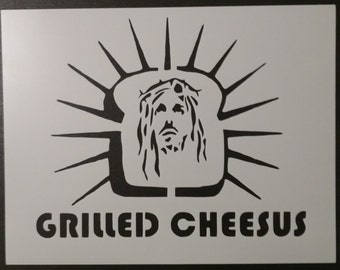 Grilled Cheesus Jesus Custom Stencil FAST FREE SHIPPING
