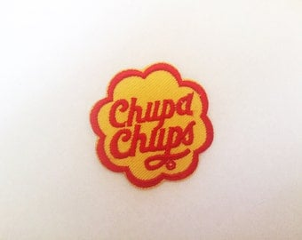 Cute Chupa Chups Sew or IRON ON PATCHES Retro Lollipop Child Kid Embroidered Bag Hat Clothing Patch
