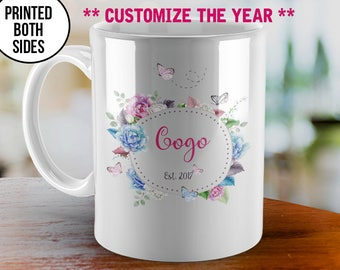 Mothers Day Gift Mug, Gogo coffee mug, Gogo Est 2017, Grandma Mug, Custom Coffee Mugs, Gogo to be Mug, New Gogo Mug, Coffee Mug, Gogo