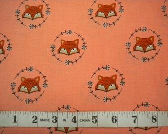 1 YD - Wilderness by Camelot Fabrics (fox head)