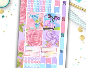 Sleeping beauty mini happy planner kit, disney kit, princess, planner stickers