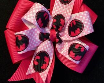 Batman Pinwheel Boutique Bow