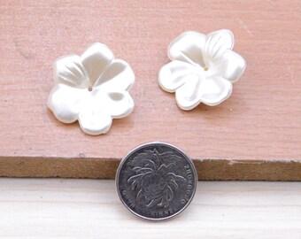 50pcs ivory flower,resin flower setting on earrings,resin flowers plastic flower setting on earrings,1.1inch