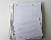 Side Bar To Do List  - set of 5 stickers perfect for Erin Condren Life Planner