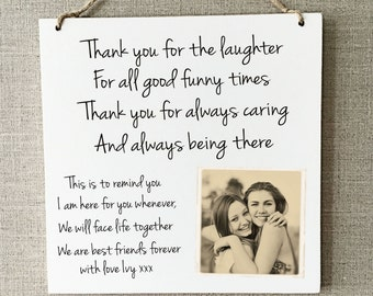 Best Friends Gift Plaque Personalised Sign Birthday Friendship Love W281