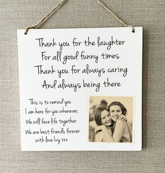 Best Friend Gift Funny Sign Birthday Present Friendship Gift: Best Friends Gift Plaque Personalised Sign Birthday Friendship
