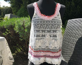 Top in the shabby boho, vintage style