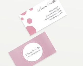 Predesigned Business Cards -  Compatible with MOO printer | Pink Feminine Business Cards