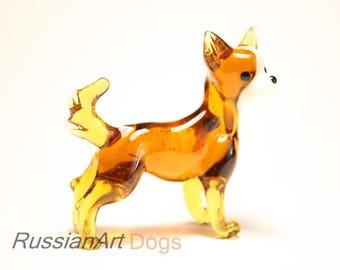 Chihuahua dog handmade Murano glass, figurine