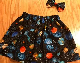 Galaxy skirt set