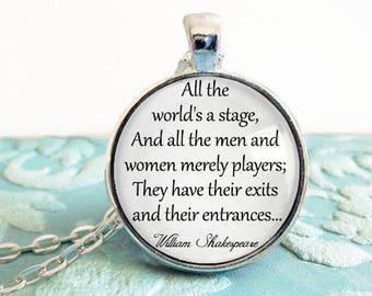 "Items similar to Shakespeare ""All the world's a stage, and ..."