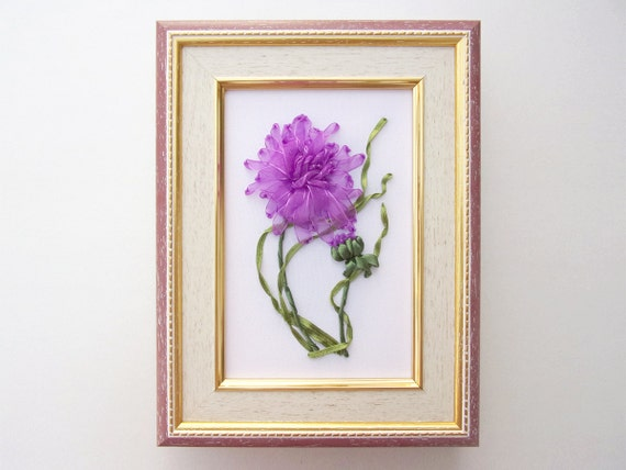 Hand Embroidery Flower Design Ribbon Embroidery Design