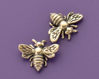 Sterling Silver, Honey Bee Charm, Charm Embellishment, Nature Charm, Silver Charm, Insect Charm, Jewelry Component, Spring Charm