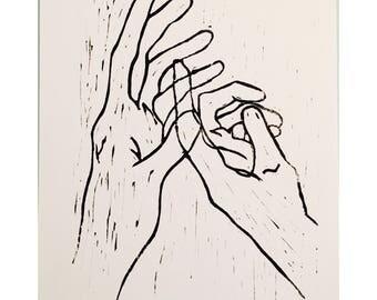 Hands Block Print