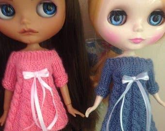Blythe knitted dress, soft baby merino wool