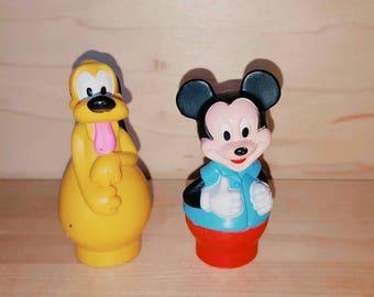 Mickey and Pluto Mega Blocks like Figures