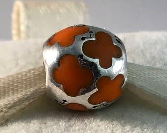 Pandora Orange Enamel Butterflies