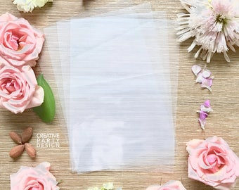 """Pack of 25 Clear Bags Measuring 5""""x7"""" to line Creative Party Design Custom Kraft Brown and White Paper Favor Bags"""