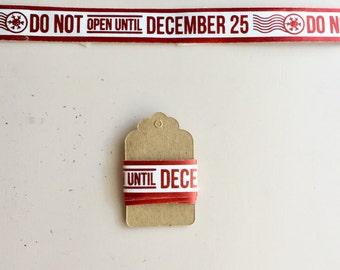 Washi Tape Samples - Christmas December 25th