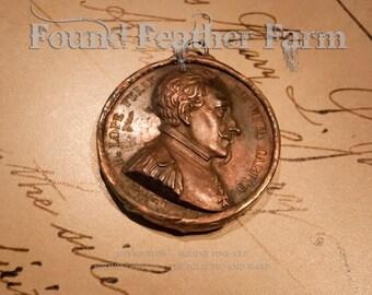 Handmade Soldered Copper Coin Pendant