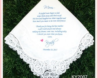 Mother of the Bride Hankerchief-Wedding Handkerchief-PRINT-CUSTOMIZED-Wedding Hankerchief-Mother of the bride Gift-Mother of the Groom gift