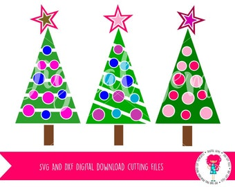 Christmas Tree SVG / DXF Cutting Files For Cricut Explore / Silhouette Cameo & PNG Clipart, Digital Download, Commercial Use Ok