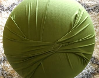 Birth Ball Cover with Handle, Exercise/Yoga Ball Cover, Birthing Ball Cover, Ball Cover - OLIVE GREEN