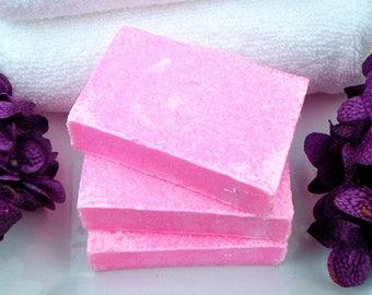 Sea Salt Soap - Salt Bar - Hot Pink Lime Soap - Exfoliating Soap - Handcrafted Soap - Artisan Soap - Cold Process Soap - Coconut Oil Soap
