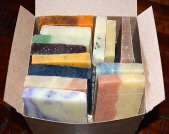 Large Soap Sampler Set, Soap Ends, Shower Favors, Father's Day gift, All Natural soap, Handmade soap, Gift for Teacher, Essential oil soap