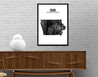 Us Wall Map Etsy - Best us wall map