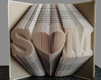 folded book art anniversary gift 1st wedding anniversary monogrammed origami gift for