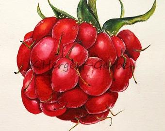 raspberry, watercolor, jpg, Digital