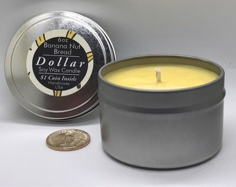Banana Nut Bread Dollar Candle