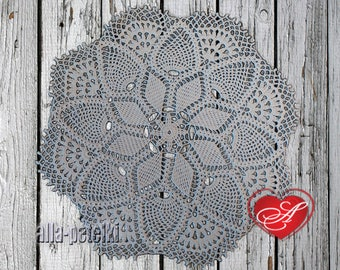 FREE SHIPPING, Doily, crochet centerpiece, cotton,white thread, home decor, tabletop decor, round, heirloom quality, mothers day