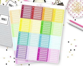 16 Hydrate Sidebar Planner Stickers for Erin Condren Life Planner, Plum Paper or Mambi Happy Planner