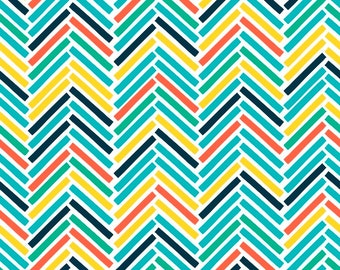 Retro Road Trip, chevron fabric, fabric with chevrons, zigzag fabric pattern, by Fabric Freedom, 19-02
