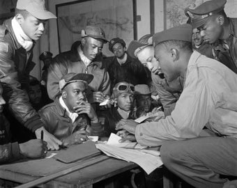 Tuskegee Airmen WWII U.S. Military Historical Poster Art Photo Artwork 12x12