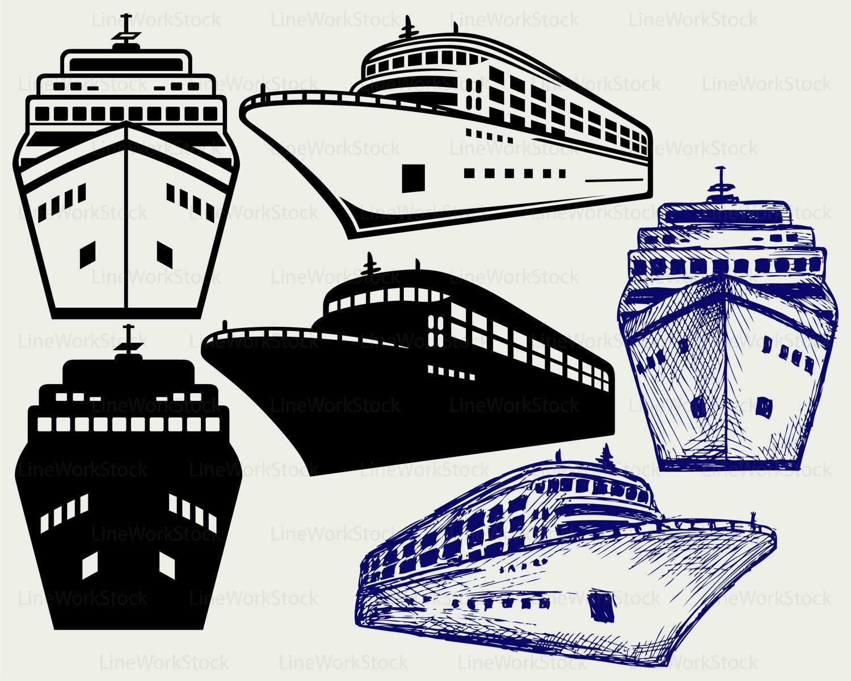 Cruise ships clip art