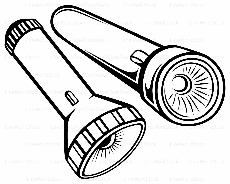 flashlight svg flashlight clipart flashlight svg