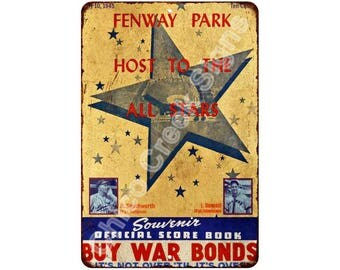 1945 Fenway Park Host to All Stars Vintage Look Reproduction 8x12 Sign 8121307