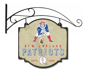 New England Patriots Tavern Sign With Bracket