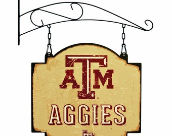 Texas A&M Aggies Tavern Sign With Bracket