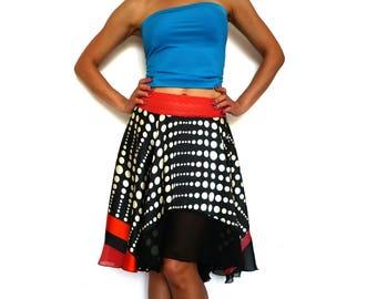 Polka dots Asymetric Circle Full Skirt 1